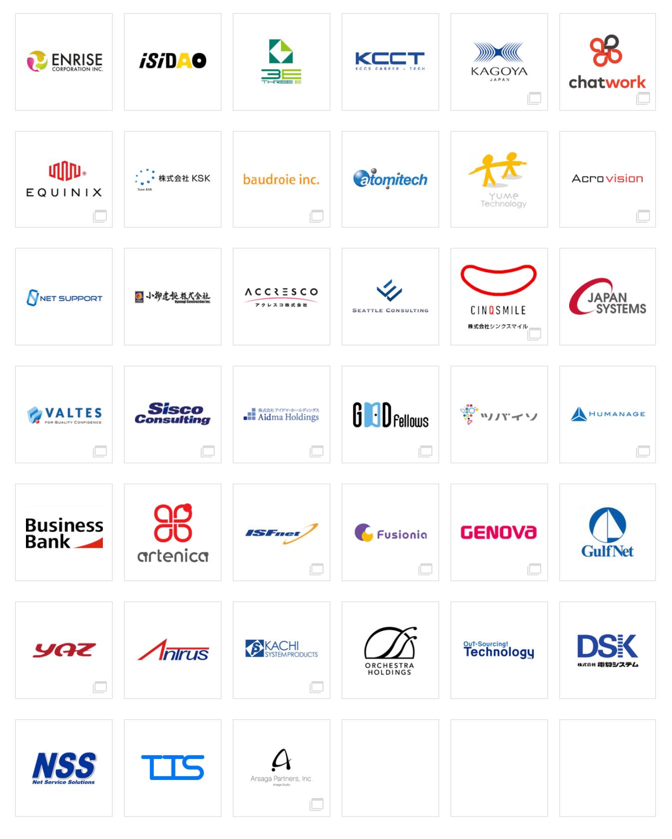 ITCEアカデミーが提携している企業